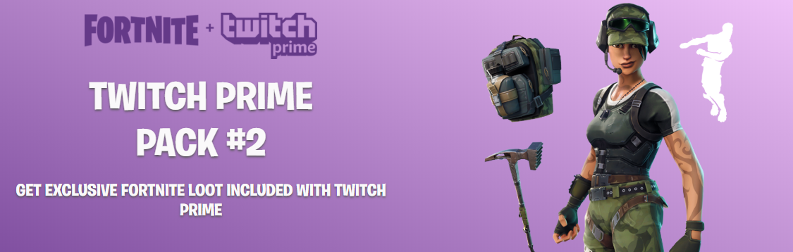 Claim Fortnite Twitch Prime Pack #2 guide