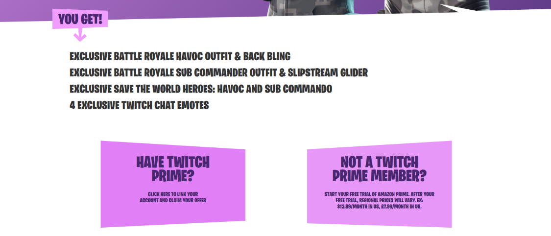 Claim Twitch Prime Rewards
