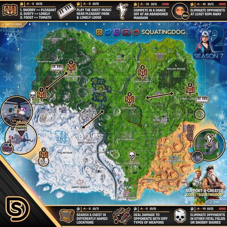 Season 7 week 2 challenges